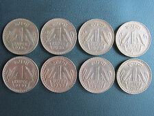 1 RUPEES BIG(DABBU) 8 COIN SET FROM 1975 TO 1982.........