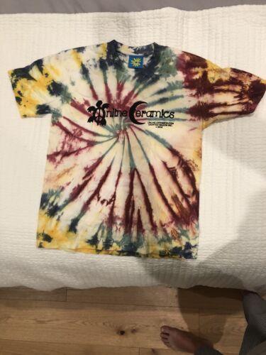 Online Ceramics T-Shirt - Peace turtle- Tie Dye- S