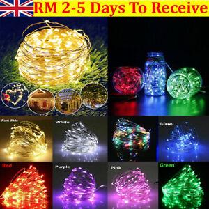 Led String Fairy Lights Battery Home Twinkle Decor For Party Christmas Garden Uk Ebay