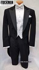 44 R Fulldress Tailcoat Formal Mens Black Gatsby Tuxedo MARDI GRAS Ball TUXXMAN
