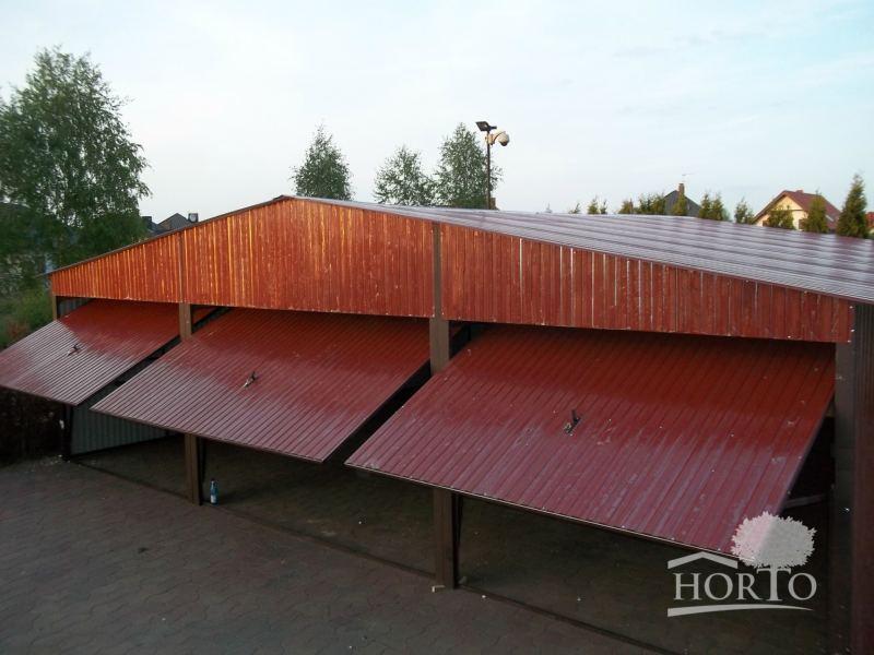 9x5,9 R8017 Schuppen Blechgarage Garage Fertiggarage Metallgarage Lagerhalle