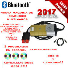 MAQUINA DIAGNOSIS BLUETOOTH MULTIMARCA 2017 ORO + 3 SOFT PARA COCHE CAMION