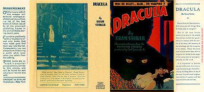 Buchhülle 100% Wahr Bram Stoker Dracula Faksimile Dust Bücherzubehör umschlag Für Grosset & Dunlap 1931 Photoplay 2019 Offiziell