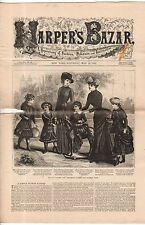 1883 Harpers Bazar May 19 - Veiling, graduation, and afternoon dresses; Mantles