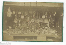 Ca. 1910 JAPANESE TOY SHOP ALBUMEN PHOTO SHOWING HUNDREDS OF DOLLS