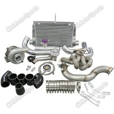 T3 Top Mount Turbo Intercooler Kit For Corolla AE86 4AGE Black Hose