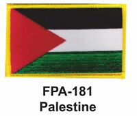 2-1/2'' X 3-1/2 Palestine Flag Embroidered Patch