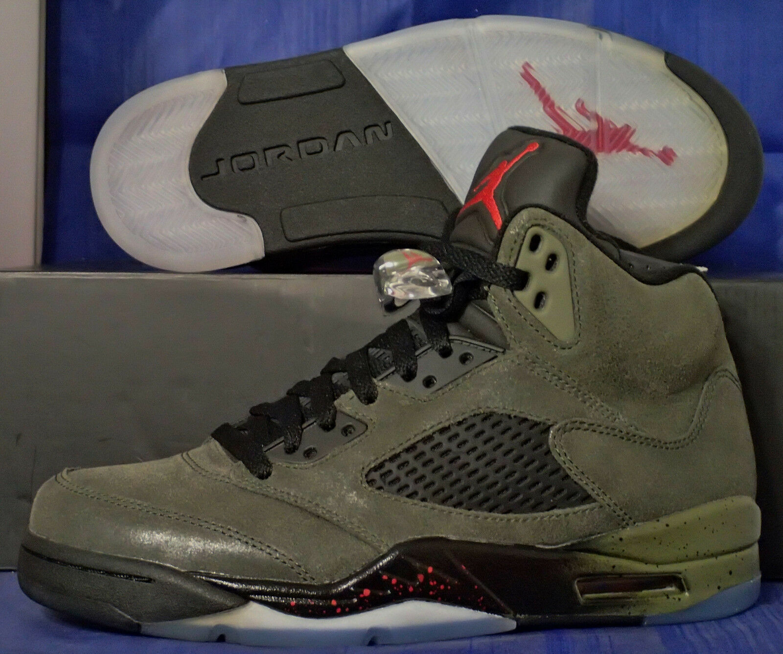 2013 Nike Air Jordan 5 V Retro Fear SZ 14 ( 626971-350 )