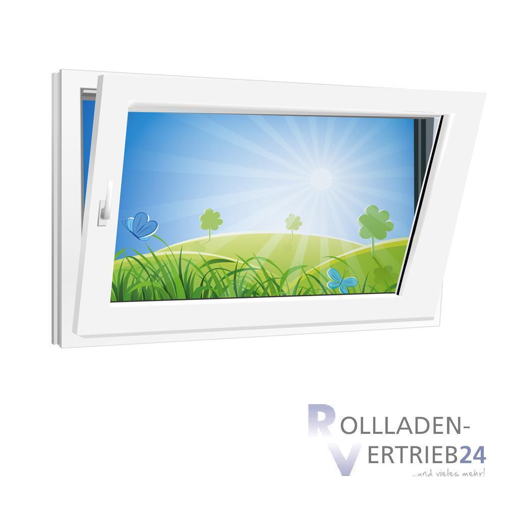 Fenster 800x500mm weiß Kunststoff PVC 2-fach Glas Dreh Kipp Links o. Rechts