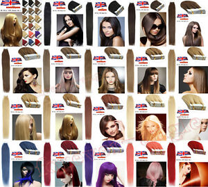 Seamless-Tape-in-Skin-Weft-100-Remy-Human-Hair-Extensions-16-034-18-034-20-034-20-40Pcs-UK