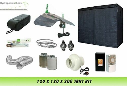 BEST completa sia coltura idroponica Grow Room Tenda VENTOLA FILTRO LUCE KIT 120x120x200 400 W
