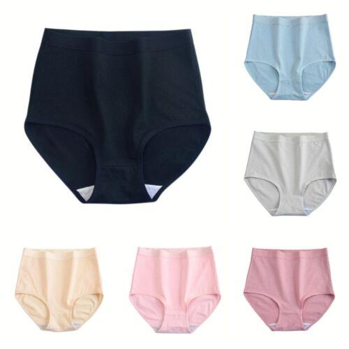 6pcs Womens Underwear Cotton High Waist Underwear for Womens Plus Briefs Panty