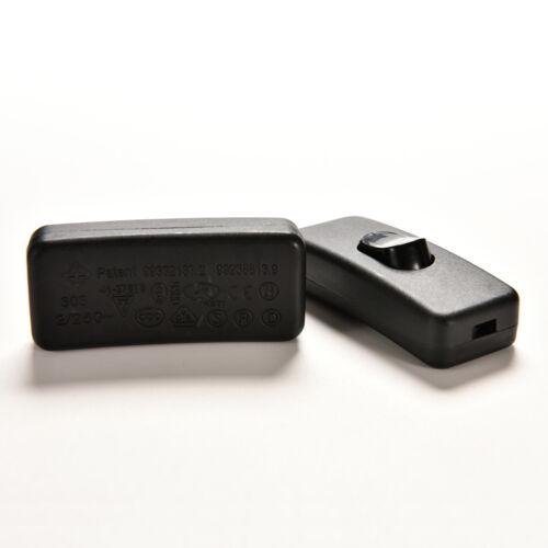 2x noir chambre intérieure AC 250V 2A unipolaire interrupteur marche //arrêt ww