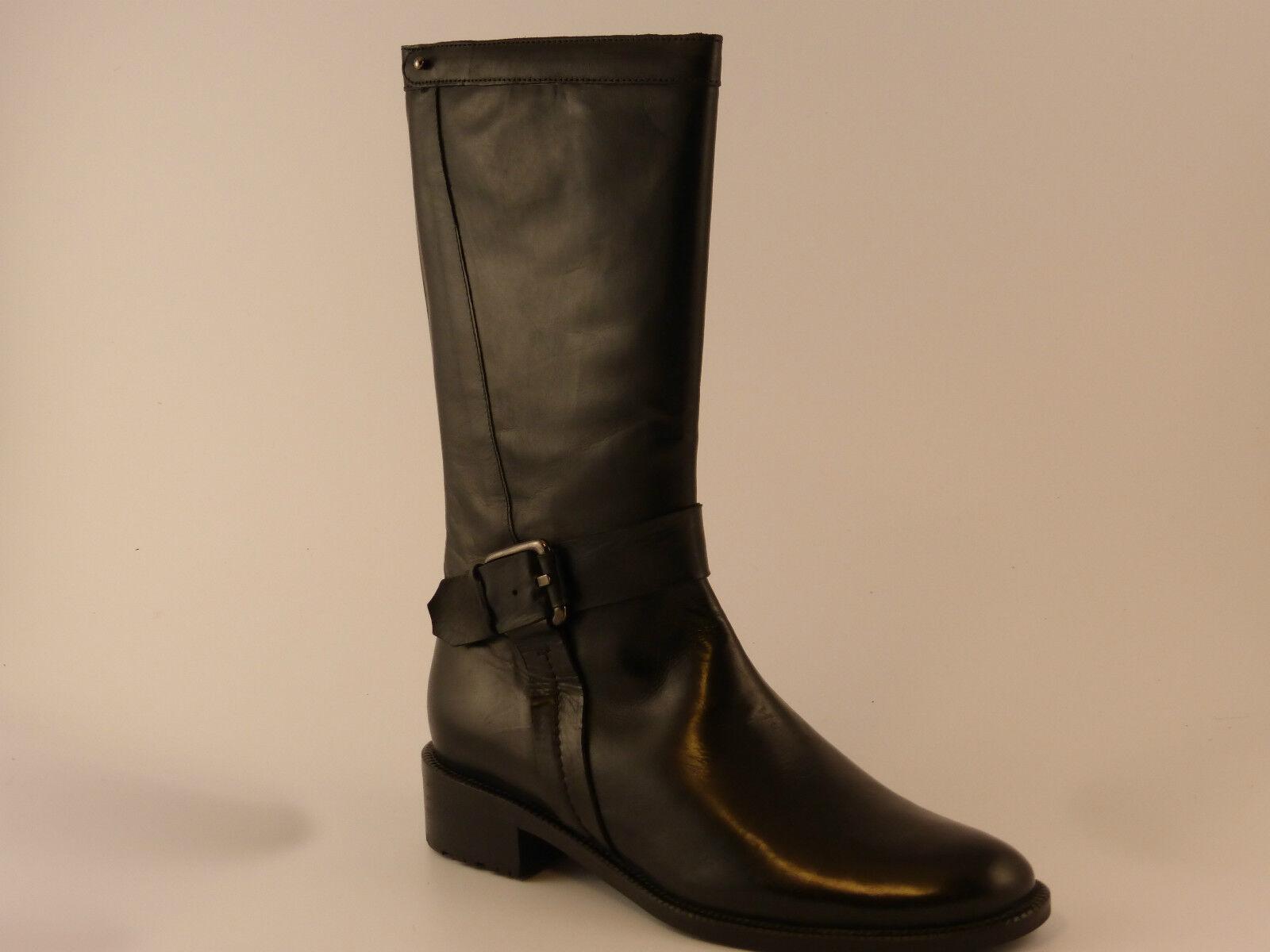 Damen Stiefel schwarz Leder Nic Dean Art.:5000-11708 zum Sonderpreis