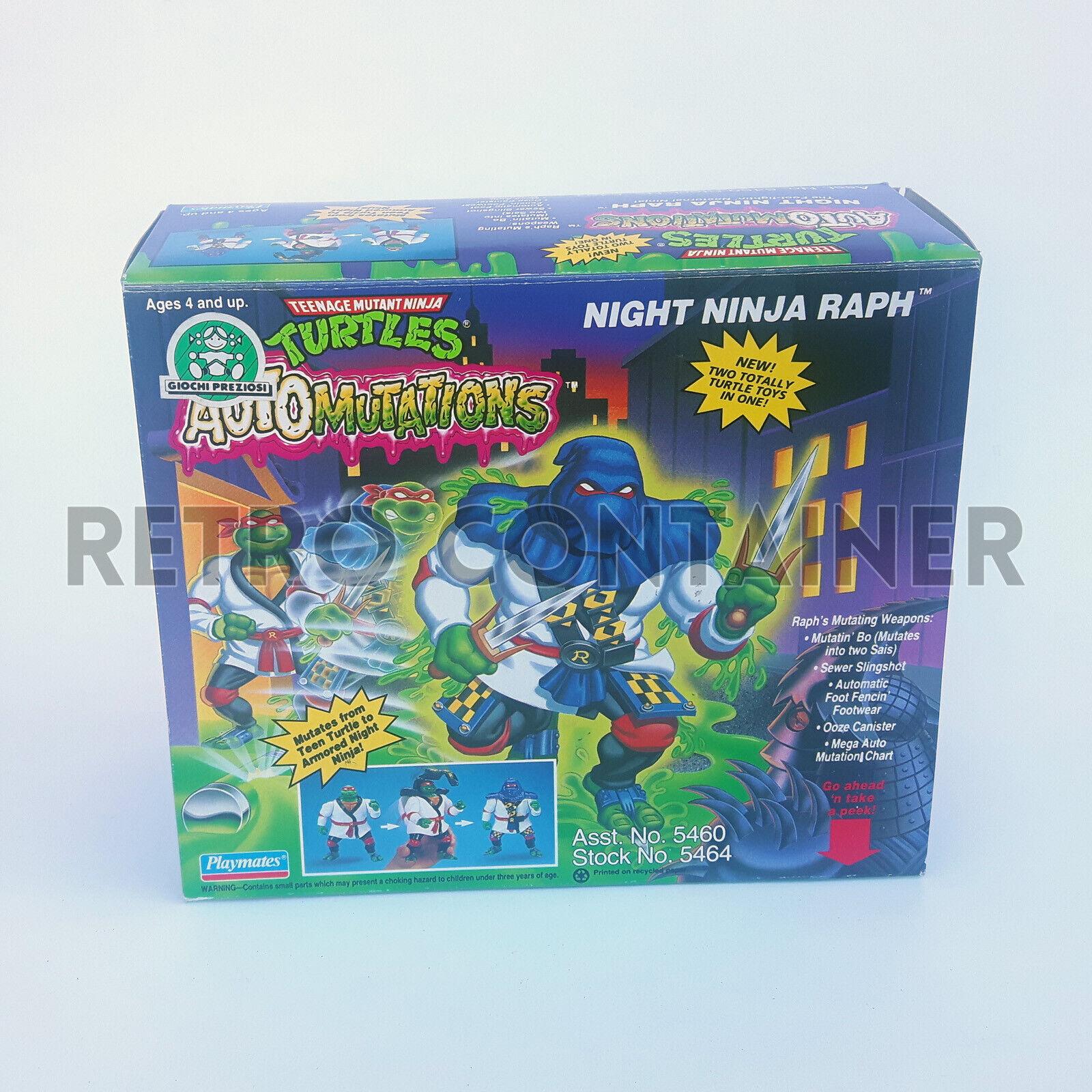 TMNT Teenage Mutant Mutant Mutant Ninja Turtles Vintage - Auto Mutations Night Ninja Raph nuovo af4ac0