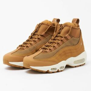 Details about NIB Men's Nike AIR MAX 95 SNEAKERBOOT WHEAT FLAX ALE BROWN Gum Shoes 806809 201