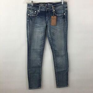 Antique-Rivet-Jeans-Womens-29-embellished-Sophia-Skinny-NWT-Vault-Denim
