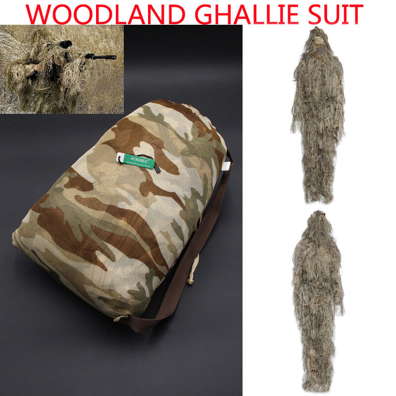 Desert Hunting Camouflage Clothing Military Yowie Sniper Archery Ghillie Suit