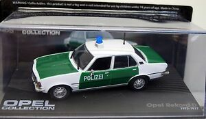 Opel Collection - Opel Rekord D Polizei, 1972-1977 1:43 in Box (2) - Duisburg, Deutschland - Opel Collection - Opel Rekord D Polizei, 1972-1977 1:43 in Box (2) - Duisburg, Deutschland