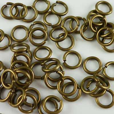 100g 50g 320+ 8mm x 1mm Bright Silver Tone Iron Closed Unsoldered Jump Rings