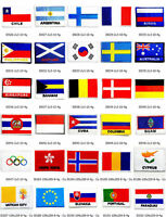 National Nation Country Flag Emblem Patch Embroidered Applique Sew Trim Badge
