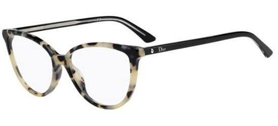 f965d51aca1 Christian Dior Montaigne 33 Cream Havana Black (tfv) Eyeglasses for ...
