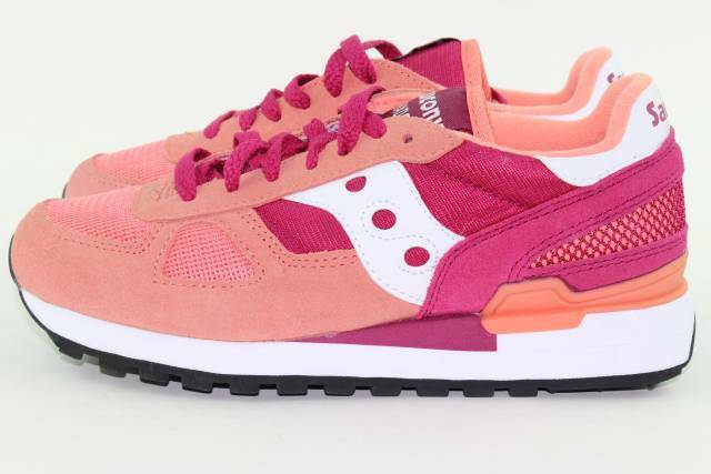 hot sale online 40bdf fbff0 Saucony Shadow Original S1108-603 Womens Pink Red Athletic Casual Shoes 6.5
