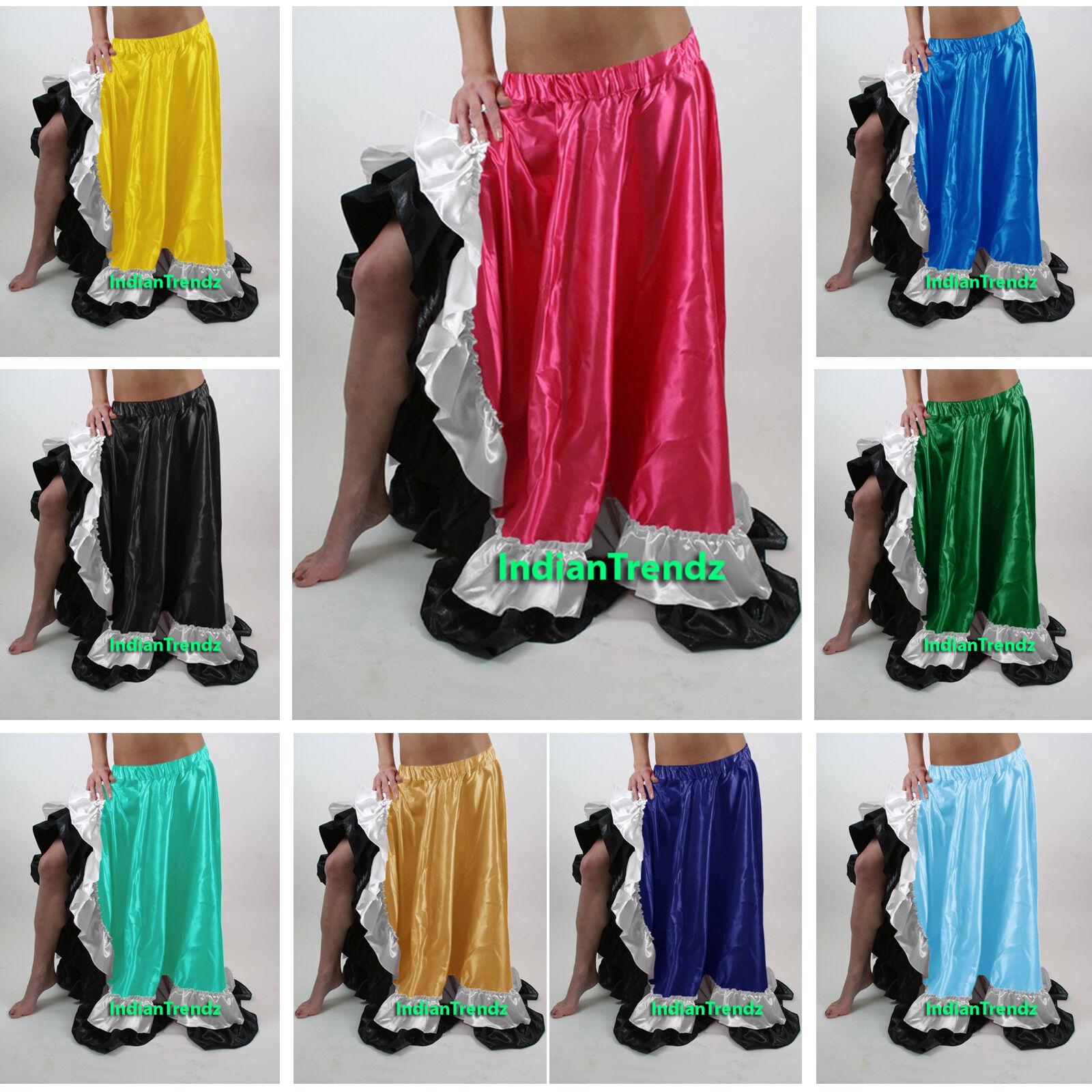 Satine Flamenco Fente Jupe Belly Dance Gitan Danse ventre du ventre Danse Danse Orientale 772a47