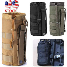 2pcs Tactical Molle Water Bottle Holder Pouch 1000D Hiking Bag Black