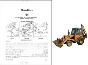 Details about Case 580B Construction King Backhoe Loader Tractor Service  Repair Manual CD