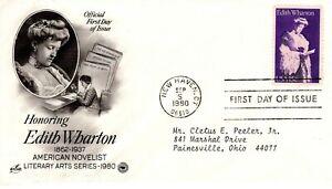 1980-Conmemorativo-Edith-Wharton-Americano-Novelista-Arte-Craft-Pcs-Cachet