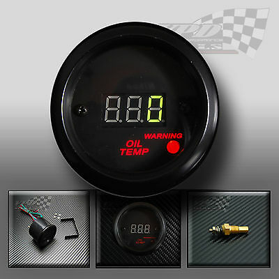 "LED DIGITAL OIL TEMP GAUGE 2"" ( 52mm ) GREEN DIGITAL LED DISPLAY"