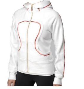 Lululemon Cheer Gear Special Edition Canada Olympic Scuba Hoodie White Size 4