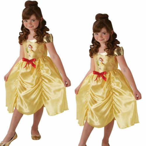 Filles Belle Robe Fantaisie Disney Beauty /& Beast Conte De Fée Princess Kids Costume