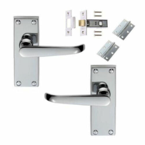 BATHROOM PRIVACY SETS LATCH Polished Chrome Victorian Door Handles LEVER LOCK