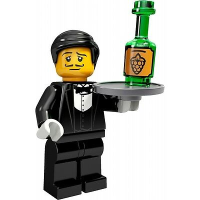 """LEGO Collectible Minifigure #71000 Series 9 /""""WAITER/"""" Complete"""