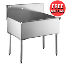 New Listingcommercial Kitchen Stainless Steel 36 Utility Prep 1 One Compartment Sink Bowl
