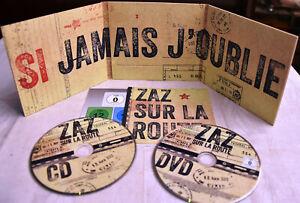 ZAZ Sur la Route CD & DvD Neuwertig DIGIPAK Aktuelles LIVE-ALBUM Chanson JAZZ!!!