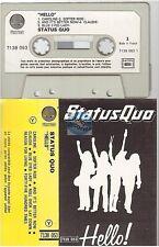 STATUS QUO cassette K7 tape HELLO france french 7138 053 paper label vertigo