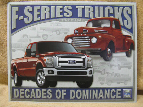 Ford Motors F Series Trucks Tin Metal Sign Decor