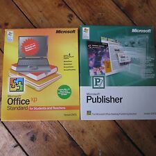 Microsoft Office XP Standard Student + Publisher Vintage Original Big Box CD Rom