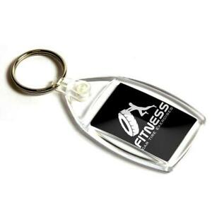 Clear-Acrylic-Blank-Keyrings-Key-Fobs-35-x-24-mm-Small-Size-Photo-Image