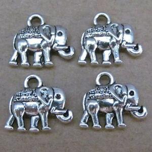 PT58-20pc-Tibetan-Silver-Dangle-Charm-Elephant-Beads-Animals-Jewelry-Findings