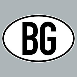 Bg-Etiquette-Autocollant-Bgr-Bul-Bulgarie-Marque-de-Pays-4061963019924