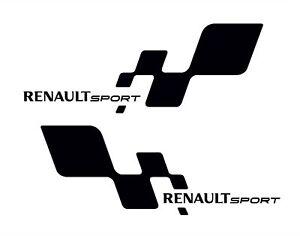 2 x renault sport logo premium stickers decals any colour ebay