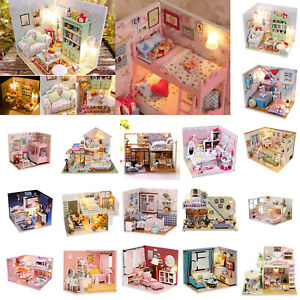 Mini-DIY-LED-Wooden-Dollhouse-Miniature-Wooden-Furniture-Kit-Doll-House-Toy-Gift