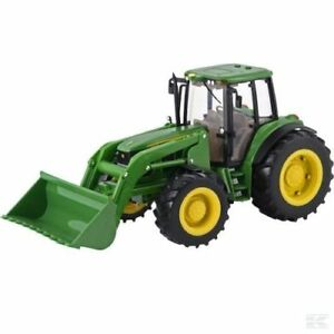 Britains-Big-Farm-John-Deere-Tractor-Childrens-Toys-With-Loader-1-16-BNIB