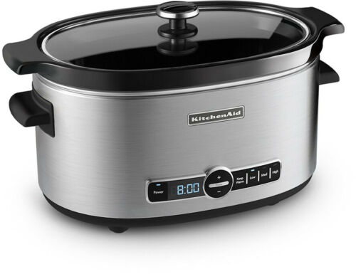 Stainless Steel KitchenAid KSC6223SS 6-Qt Slow Cooker with Standard Lid