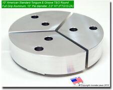 10 Full Grip Tongue Amp Groove Aluminum Lathe Soft Jaws 2 Ht 10 Pie Diameter