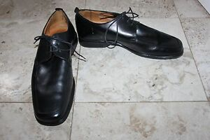 Mens-Black-Jeff-Banks-London-Shoes-Size-41-UK-7-Leather-Lace-Ups